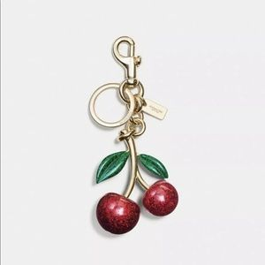COACH RESIN CHERRIES  SPARKLE KEY CHAIN BAG CHARM